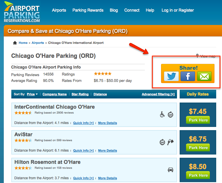 Share the Airport Parking Savings!
